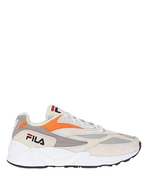 Fila Mujer 101067021H Naranja Cuero Zapatillas: Amazon.es: Zapatos y complementos