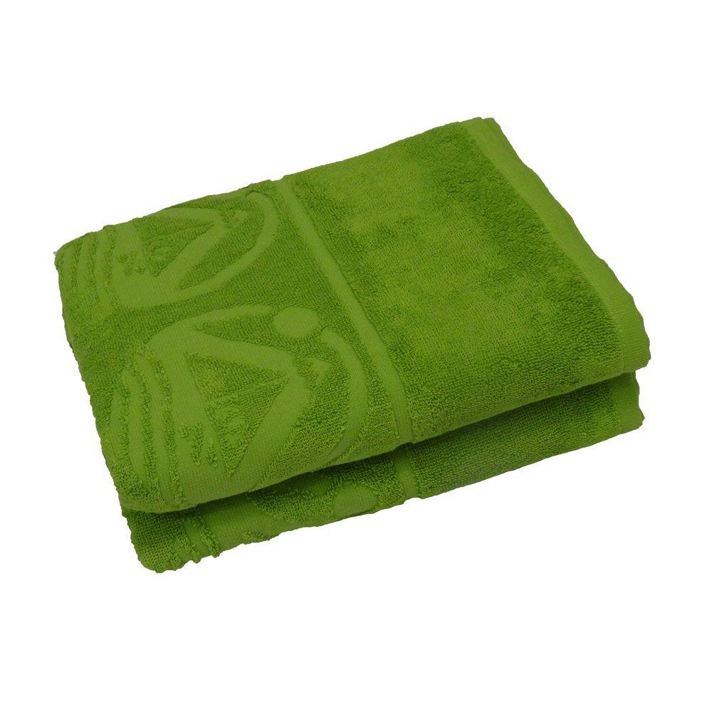 Outdoorer Beachfex, toalla de playa, toalla de baño, toalla para gimnasio, tamaño extra grande. Disponible en verde o azul, hecha de algodón de alta calidad (verde)