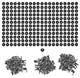 250 Small Round Rubber Feet W/Screws - .250 H X .671 D - Made in USA - Food Safe Cutting Boards Electronics Crafts #