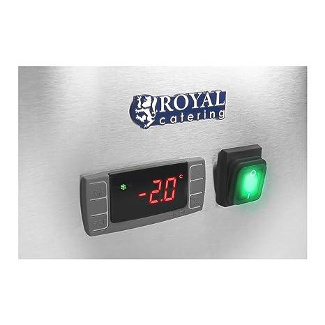 Royal Catering Mesa refrigerada RCKT-202/80 (580 L, Encimera de granito, Compresor de 235 W, 2 cámaras de refrigeración, Refrigerante R600a): Amazon.es: ...