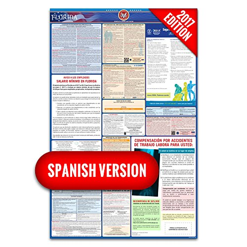 2017 Florida (Spanish) Labor Law Poster – State & Federal Compliant – Laminated