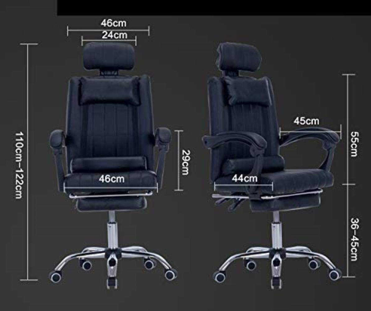 Skrivbordsstolar kontorsstol datorstol vilande svängbar stol hem kontor stol läder konst spelstol kontor (färg: blå) BLÅ