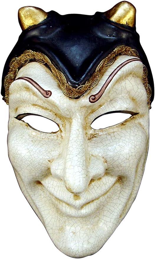 Máscara Veneciana Completa Volto Diavolo para Hombres: Amazon.es: Juguetes y juegos