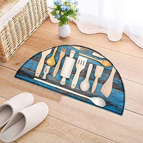 - Kitchen Rugs Floor mats Set Kitchen Utensils. Accessories for Cook Waterproof Semi-Circular Door Mat Floor Mats W39 x H28 INCH