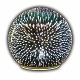 Sphere Accent Ball Lamp - Mercury Glass Starburst Ball LED Table Light