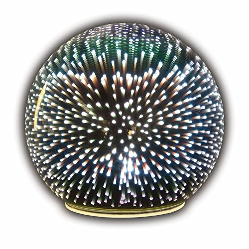 Sphere Accent Ball Lamp - Mercury Glass Starburst Ball LED Table - Ball Starburst