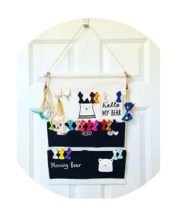 bow hair clip organizer for wall or door NEW hair band  holder Headband