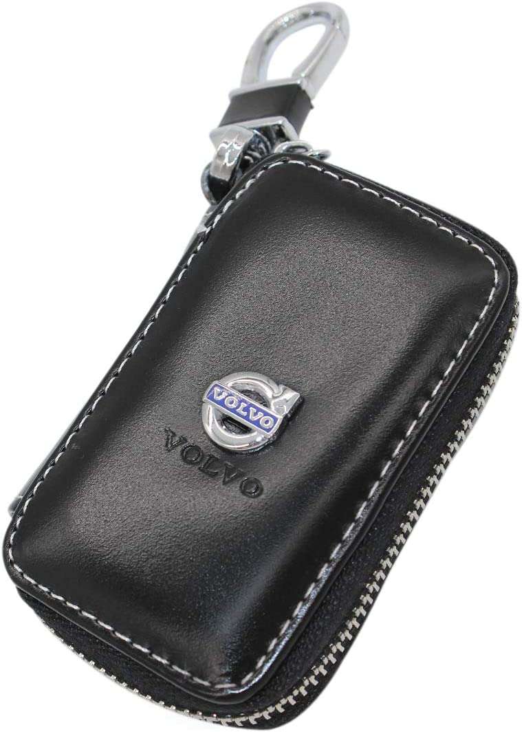 Car Sales Fit Volvo Car Key Case Remote Control Package Black Leather Auto Keychain