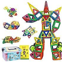 磁石ブロック マグネット3d立体パズル 145ピース(磁気ブロック99...