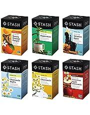 Stash Tea Soothing Herbal Tea Six Flavor Assortment, 6 Piece Assortment