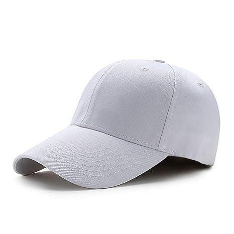 VISER 100% algodón Gorra de béisbol Color sólido 6 Panel Gorra ...