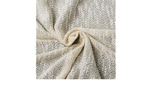 252edbc6dde13d Amazon.com  Stone Crepe 2 Tone Open Knit Jersey Rayon Poly Jersey Knit  Fabric