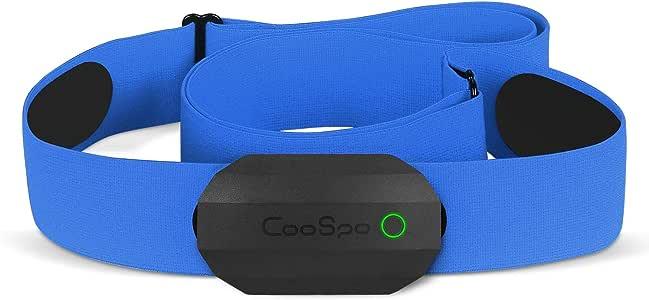 CooSpo Frecuencia Cardíaca Bluetooth Banda Monitor Sensor de Frecuencia Cardíaca Deportivo Ant+ para Garmin Wahoo Suunto Polar UA Run…