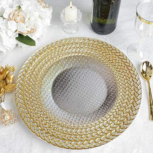 Set Of 8 Round Gold Charger Plates Centrepiece Tableware Under Place Settings