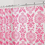 Hot Pink Shower Curtain Rings mDesign Toile Fabric Shower Curtain - 72
