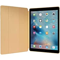 Kit Smart Case Ipad Pró 12.9 Apple 2017 Sensor Sleep Dourada + Película de Vidro