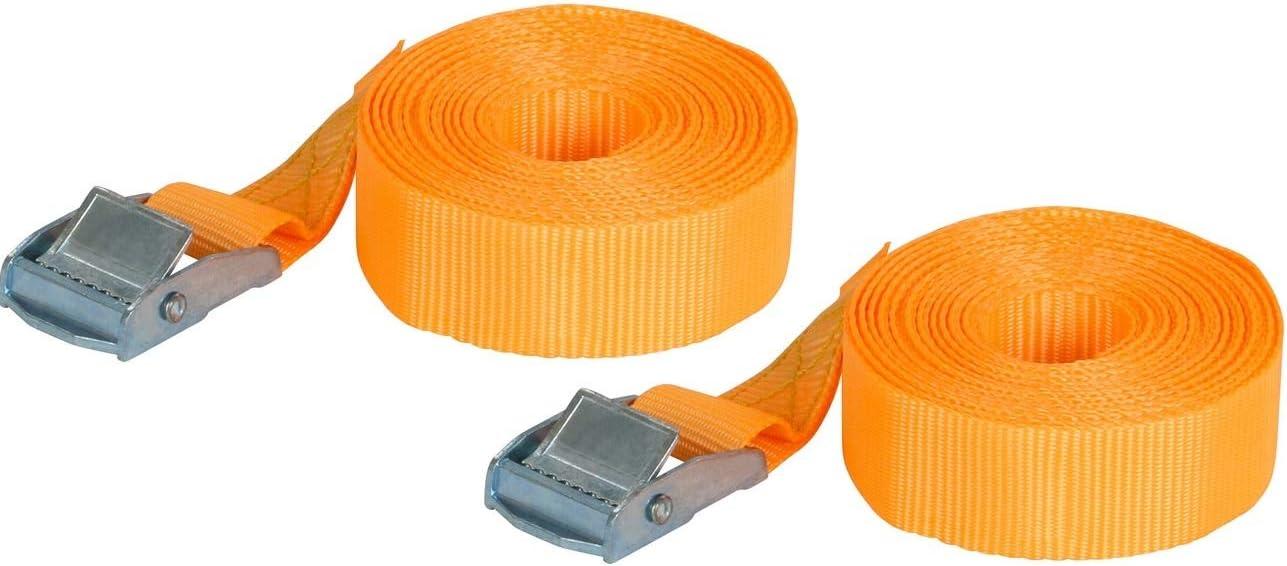 Orange Carpoint 0928010 Spanngurte 2 x 4,5 Meter
