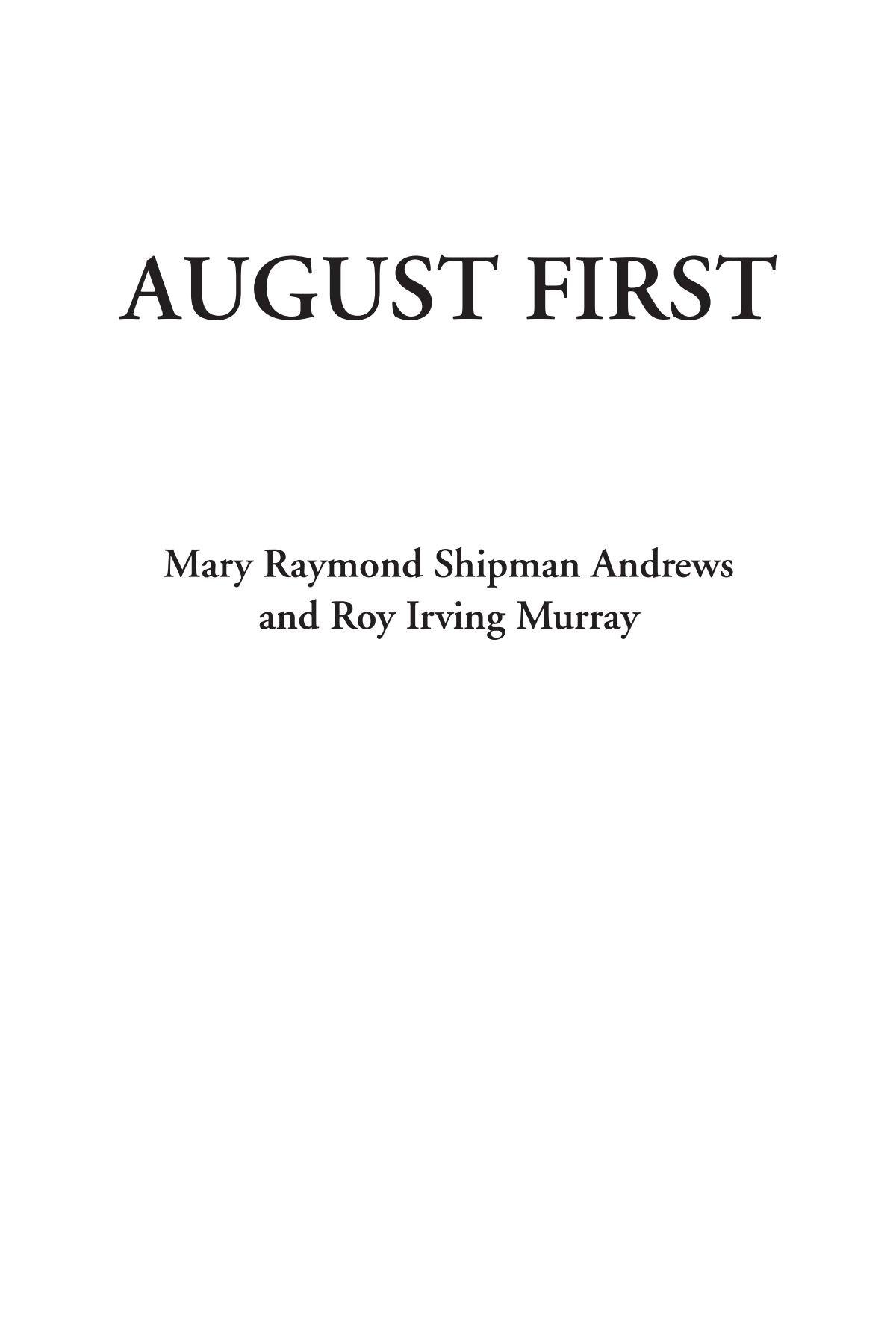 August First ebook