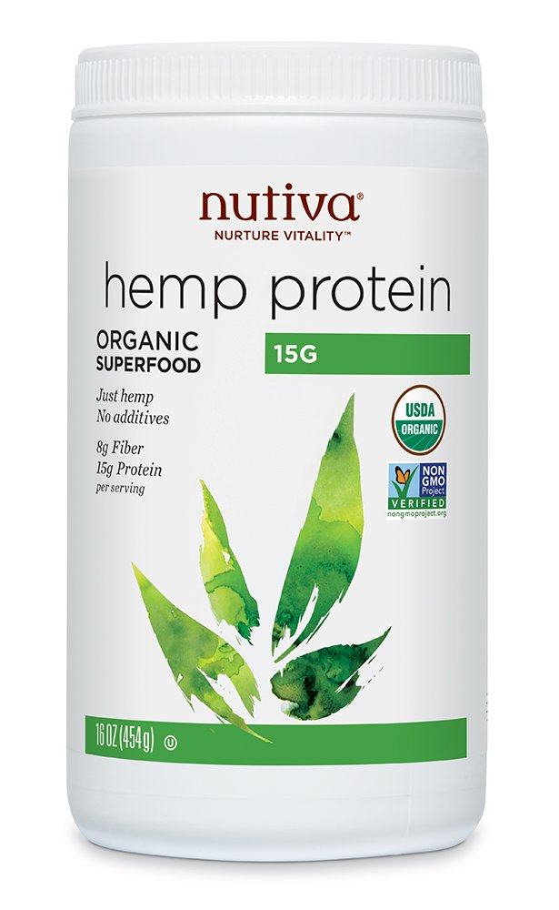 Nutiva Organic, Cold-Processed Hemp Protein from non-GMO, Sustainably Farmed Canadian Hempseed,16 Ounces