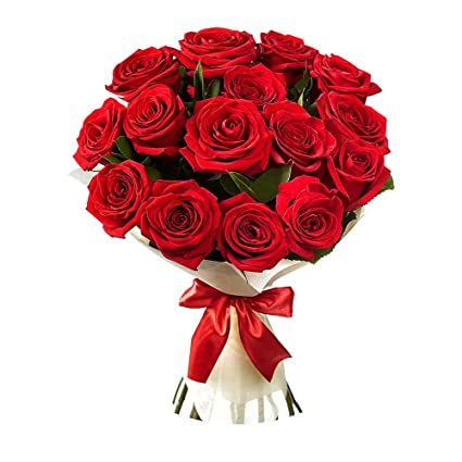 Golden Cart Fresh Flower Delivery of Garden Fresh ROSES FRESH FLOWER  BOUQUET to Convey that 'special feeling' of 'Pure love and Commitment' to  your