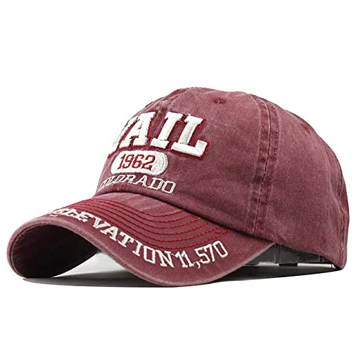 xiaochicun Washed Old Female Hat Casual Soft Top Letter Bordado ...