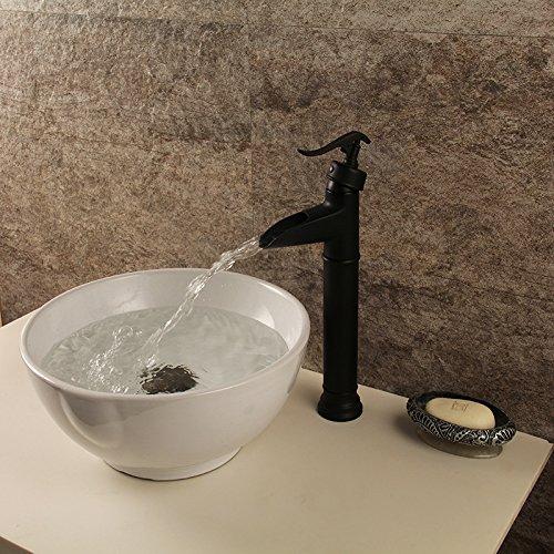 2 AJUNR-Black Bronze Basin Sinks Bathroom sink Taps Bathroom sink Taps Click The Wrench-Basin Mixer 1 Tap