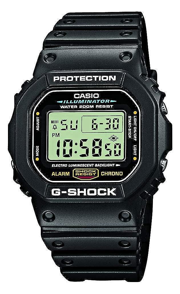 da8185265b Casio Reloj Digital para Hombre de Cuarzo con Correa en Resina  DW-5600E-1VER  Amazon.es  Relojes