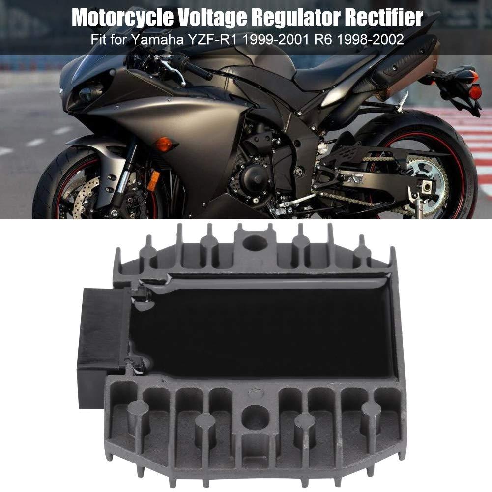 KIMISS Regolazione del raddrizzatore del motociclo in alluminio Regolazione del raddrizzatore YZF-R1 1999-2001 R6 1998-2002