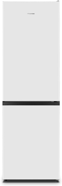 Hisense RB390N4AW1 - Frigorífico Combi No Frost, Color Blanco, Clase A+, Capacidad Neta 300L, 186 Cm Alto, ECO mode,Silencioso 38 dB