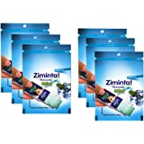 Ziminta Sugar Free Mint Mouth Freshener Easily Soluble Digestive Dispensable Strip - 30 Strips (Mint Flavour, Blue) - PACK of 6