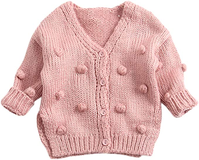 Toddler Baby Girl Boy Winter Sweater Jacket Knit Tops Cardigan Pollyhb Baby Sweater