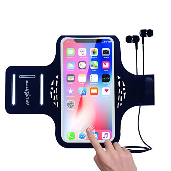 the latest 28bfa 1846f iPhone X Armband, Armband iPhone X | Armband iPhone 10 - BFSPORT Water  Resistant Sports Running Arm Band with Key Holder for iphone X/10/7 plus/6s  ...