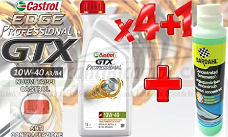 Aceite Motor Coche Castrol GTX Professional 10 W-40 Gasolina/Aceite Motor Diesel