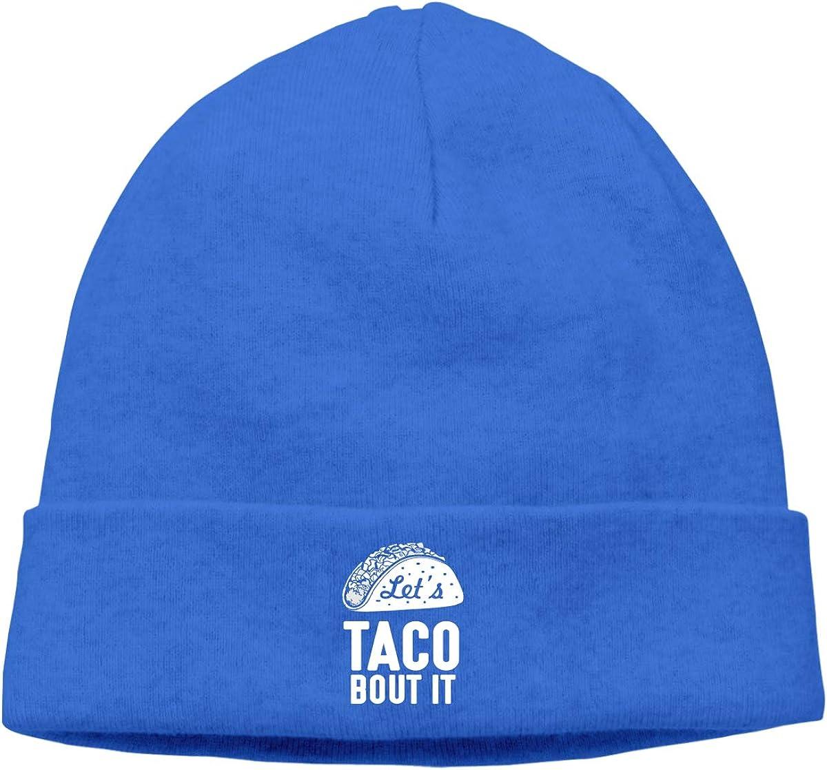 Riokk az Taco Tuesday About It Skull Cap Beanie Cap for Mens Blue