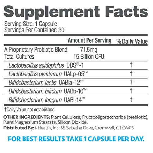 up4 Adult Probiotic Supplement | Digestive + Immune Support | 15 Billion CFU Guaranteed | Everyday Support | Non-GMO, Gluten Free, Vegan | 30 Vegetarian Capsules by up4 (Image #6)
