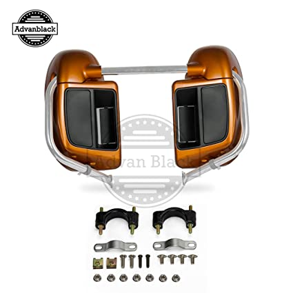 Advanblack Rushmore Amber Whiskey Lower Vented Fairings Fit for Harley Davidson Touring Street Glide Road Glide