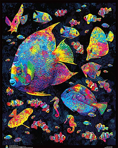 Painted Fish Flockless Blacklight Reactive Poster