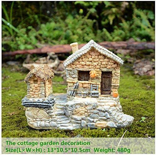 LASISZ Bonsai GNOME Cottage Paisaje Resina Artesanía Casa de Piedra Jardín de Hadas Decorativo Rockery: Amazon.es: Hogar