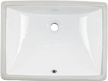 1813cbw 18 X 13 Inside Dimension White Rectangular Porcelain Undermount Lavatory Bathroom Sink Amazon Com