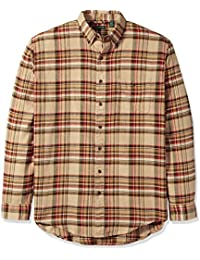 Men's Big and Tall Fireside Flannel Plaid Long Sleeve Shirt