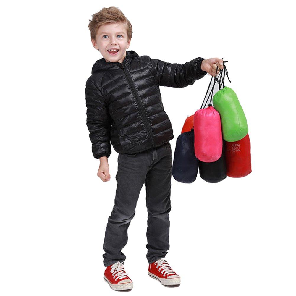 FOUNDO Kids Boys Girls Warm Puffer Jacket Winter Hooded Lightweight Down Coat