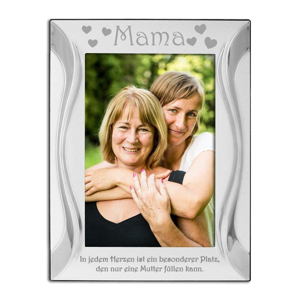 Amazon.de: Mama, Mutter, Bilderrahmen, Versilbert, Silber, \