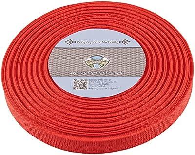 Country Brook Design 1-Inch Polypropylene Webbing, 100-Yard, Red