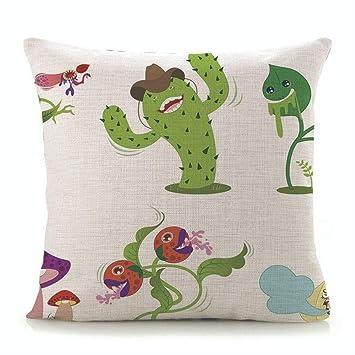 SKJSB Cojín Decoración de Cactus Verde de algodón de Lino ...