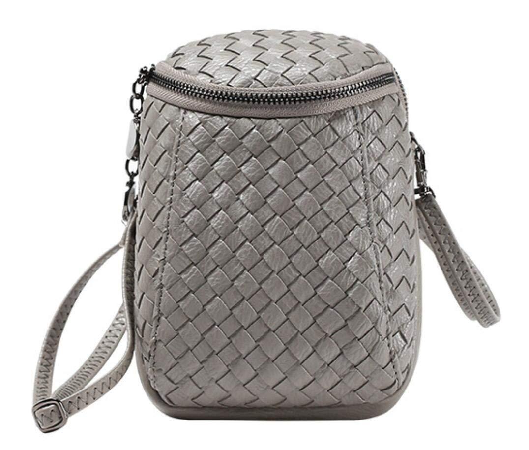 Katoony New Womens Dual Pockets PU Leather Mini Cellphone Crossbody Bag Single Shoulder Purse for Girls