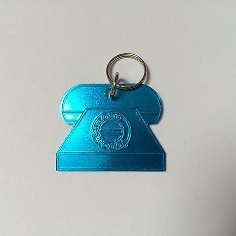 Diseño de perros - y gatos minirremolque con láser de grabado, azul, Telefon