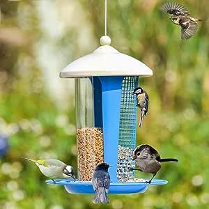 ZHANGZHIYUA El comedero para pájaros Silvestres atrae más pájaros decoración del jardín, comederos para pájaros Grandes y medianos, fáciles de Limpiar,2: Amazon.es: Deportes y aire libre