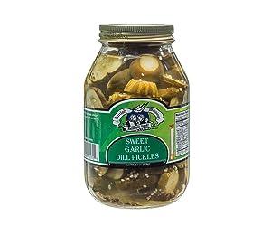 Amish Wedding Sweet Garlic Dill Pickles - 32 Oz