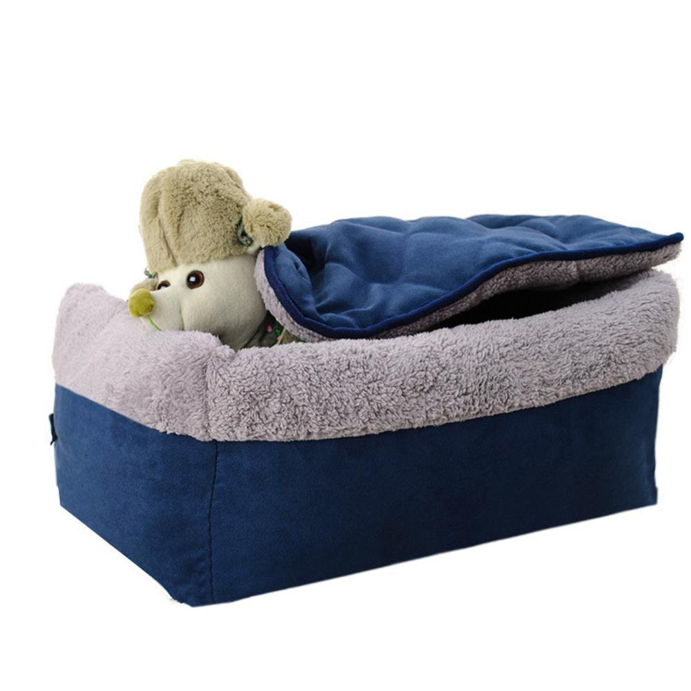 563719cm Gwanna Pet Bolster Dog Bed Comfort Cloth type Clamshell Detachable pet litter dog bed Soft Pad for Pets Sleeping (Size   56  37  19cm)