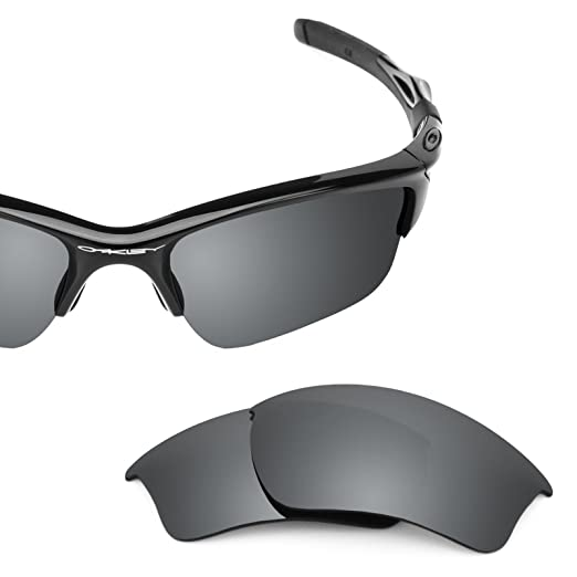 0b27ad880e Revant Polarized Replacement Lenses for Oakley Half Jacket 2.0 XL Elite  Black Chrome MirrorShield